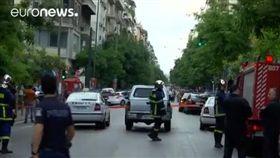 希臘前總理巴帕德莫斯座車爆炸(圖/翻攝自推特)