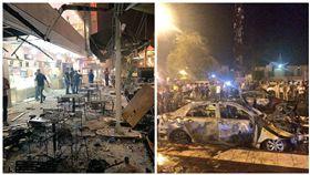伊拉克,巴格達,自殺炸彈攻擊(圖/翻攝自推特)