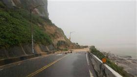 大雨,交通管制,金山,坍方/警方提供(翻攝畫面)