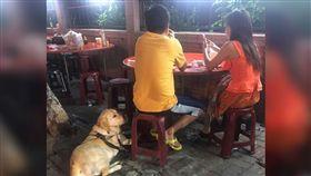 導盲犬,同理心,視障,呂冠霖,小孩,保護,吃飯,怕狗 圖/翻攝自呂冠霖臉書https://goo.gl/ndOXnc