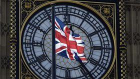 英國倫敦、國會大廈、西敏寺、英國國旗、大笨鐘(圖/路透社/達志影像)
