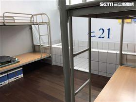 台南第二監獄、一人一床/記者潘千詩攝影