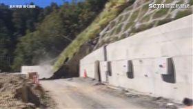 驚悚畫面!台八線109K施工地段邊坡崩塌