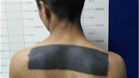 刺青,紋身,刮刮樂,大陸,四川,嫌犯,帶魚 圖/翻攝自微博