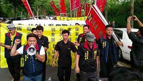 林飛帆婚禮  中華統一促進黨舉布條訴求(圖/中央社)