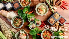 君悅凱菲屋「暹羅味旅」泰式料理。(圖/台北君悅提供)
