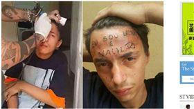 ▲少年偷竊,額頭上遭刺「我是小偷」。(圖/翻攝自Sky Alpha YouTube) https://www.youtube.com/watch?v=DTsb9nBhais