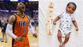 Westbrook和兒子。