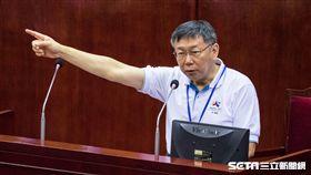 台北市長柯文哲出席台北市議會總質詢 圖/記者林敬旻攝