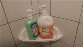 沐浴乳,洗髮精,浴室,盥洗 圖/翻攝自爆廢公社