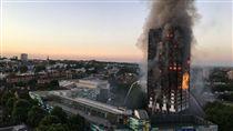 英國葛林菲爾塔(Grenfell Tower)大火/Natalie Twitter