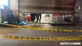 警方在現場拉起封鎖線展開調查,新莊,砍殺 圖/記者游承霖攝影