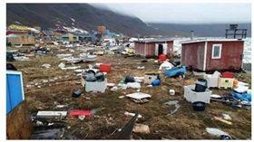 格陵蘭罕見地震 海嘯摧毀11棟民宅 圖/翻攝自 earthquake-report.com