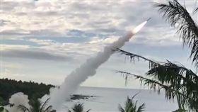 中科院19日順利試射愛國者飛彈攔截天弓飛彈。(中央社/讀者提供)