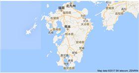 九州地圖。(圖/翻攝自Google地圖)