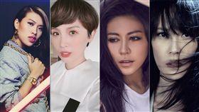 第28屆金曲獎最佳國語女歌手獎入圍者有艾怡良、魏如萱、楊乃文、葛仲珊。(圖取自歌手臉書facebook.com)