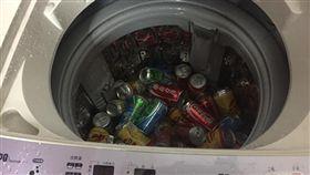 飲料放洗衣機洗/臉書《爆廢公社》