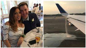 機場,新婚,夫妻,美國,聯合航空  圖/翻攝自環球網