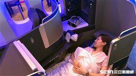 美國聯合航空,UA,推出Polaris新商務艙 圖/記者簡佑庭攝影