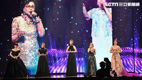 金曲28,表演「寶島歌后」秀蘭瑪雅、黃妃、李婭莎、鳳娘、曹雅雯(圖/記者邱榮吉攝影)