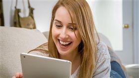 大笑,開心,平板,電腦,APP (圖/pixabay)