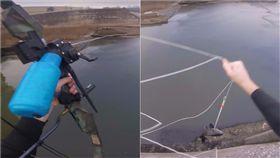 釣魚,魚,弓箭,射魚,釣竿,魚網,捕魚,距離 圖/翻攝自YouTube影片 https://goo.gl/lmzffr