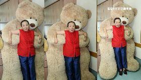 熊抱張花冠1200