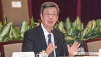 副總統陳建仁針對年金改革向外界釋疑。 圖/記者林敬旻攝