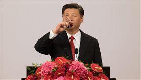 中國大陸國家主席習近平訪港、香港(圖/路透社/達志影像)