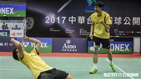 台北羽球公開賽男雙冠軍賽 圖/記者林敬旻攝