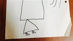 畫畫,美術,創意,想像力,姪女,烏賊,公主,藝術 (圖/翻攝自Dcard)