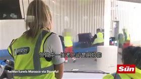 機場,行李,粗暴,搬運工,機器人,摔,輸送帶,小偷