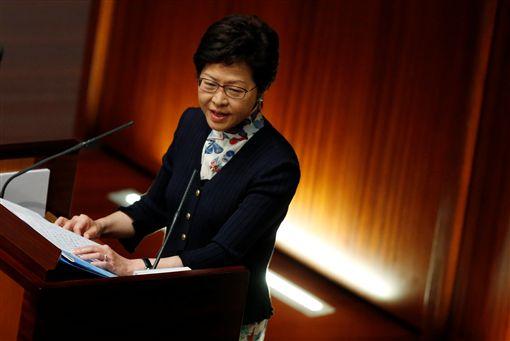 ▲香港行政長官林鄭月娥今(5)日,在香港立法會第一次問答全會。(圖/路透社/達志影像)