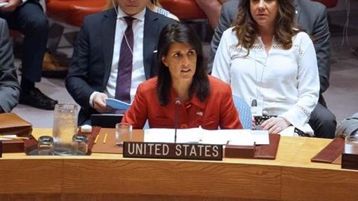 美國駐聯合國大使海莉(Nikki Haley)https://www.facebook.com/NikkiHaley/photos/a.10150104090413226.283672.109521013225/10154792689788226/?type=3&theater