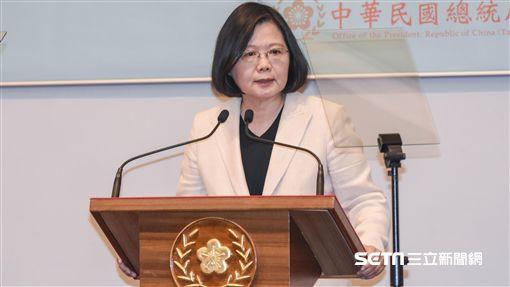 總統蔡英文針對年金改革發表談話 圖/記者林敬旻攝