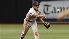 ▲波士頓紅襪台灣選手林子偉守游擊先發。(圖/美聯社/達志影像)