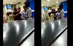 印尼高官妻子機場摑掌。(合成圖/翻攝自Twitter)
