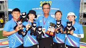 中華反曲弓女子隊在此次測試賽表現亮眼。。(圖/世大運提供)