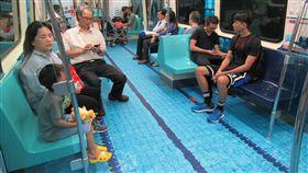 世大運,捷運,場地,游泳池,北市府,松山新店線,世大運列車(圖/北市府提供)