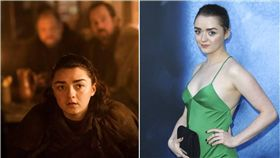 冰與火之歌,權力遊戲,HBO,Maisie Williams,Kit Harington,Game of Thrones 圖/美聯社/達志影像
