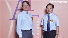 台師大藝時尚GF-EMBA執行長夏學理(左)、台師大校長張國恩(右)。