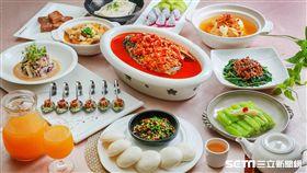 2017台灣美食展中餐合菜。(圖/大地酒店提供)