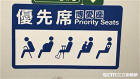 火車、博愛座(示意圖)