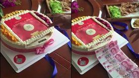 山東婦送奶奶特製生日蛋糕 按鈕即狂噴現金