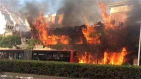 杭州餐廳氣爆釀2死…巨大火球轟碎公車玻璃 恐怖畫面曝光  微博