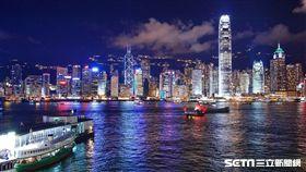 香港,夜景,。(圖/長榮提供)