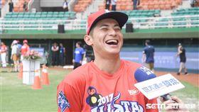 中華職棒紅白明星對抗賽,紅隊陳傑憲 圖/記者林敬旻攝