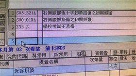 考試不及格,代碼 圖/翻攝自黃隆正醫師的白色外套臉書