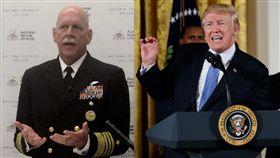 美國海軍太平洋艦隊司令斯威夫特(Scott Swift)、川普  ▲圖/美聯社/達志影像