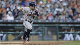 ▲休士頓太空人二壘手Jose Altuve單月演出9次猛打賞。(圖/美聯社/達志影像)